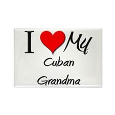 I Heart My Cuban Grandma Rectangle Magnet