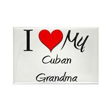 I Heart My Cuban Grandma Rectangle Magnet