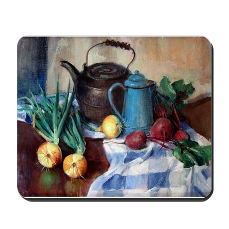 Onions and Black Kettle Mousepad