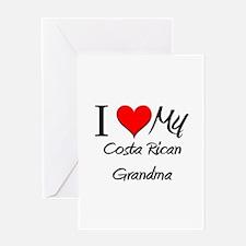 I Heart My Costa Rican Grandma Greeting Card