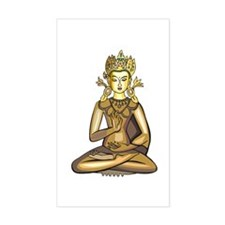 Golden Buddha Rectangle Decal