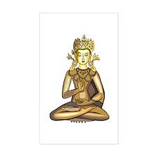 Golden Buddha Rectangle Decal