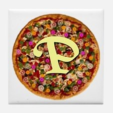 The Great Pizza Monogram Tile Coaster
