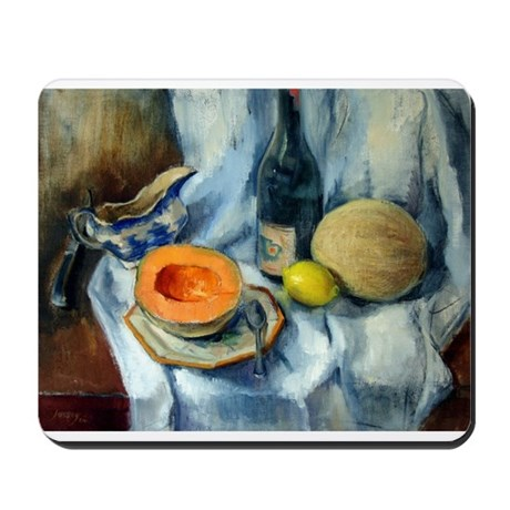Blue Willow and Cantaloupe Mousepad