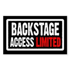 """Backstage Access Limited"" Rectangle Decal"