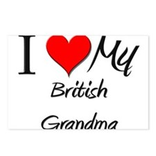 I Heart My British Grandma Postcards (Package of 8