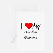 I Heart My Brazilian Grandma Greeting Card