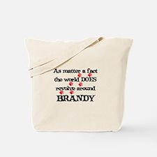 The World Revolves Around Bra Tote Bag