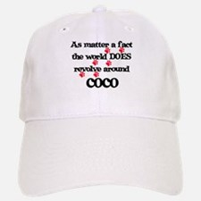 The World Revolves Around Coc Baseball Baseball Cap
