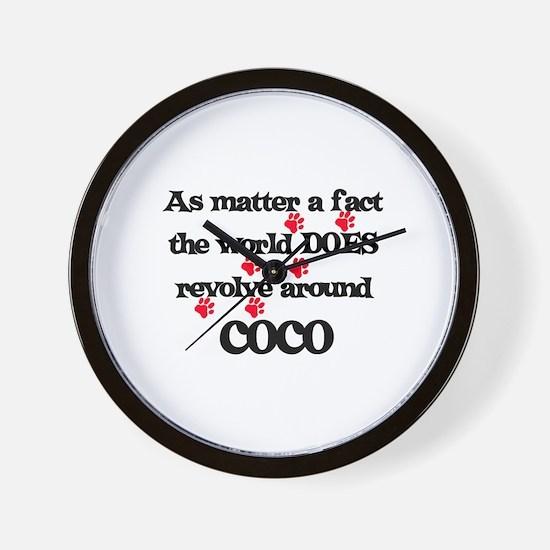 The World Revolves Around Coc Wall Clock