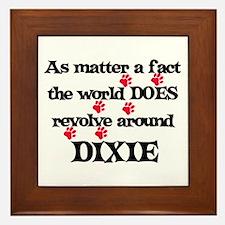 The World Revolves Around Dix Framed Tile