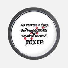 The World Revolves Around Dix Wall Clock