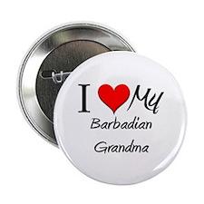 "I Heart My Barbadian Grandma 2.25"" Button"