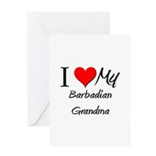 I Heart My Barbadian Grandma Greeting Card