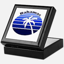 Bahamas Blue Palm Keepsake Box