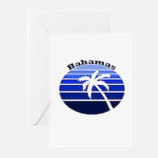 Bahamas Blue Palm Greeting Cards (Pk of 10)