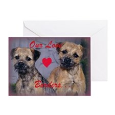Border Terrier Madness Valentine Greeting Card