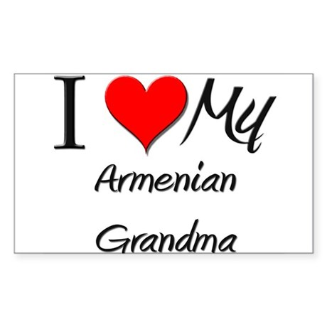 I Heart My Armenian Grandma Rectangle Sticker