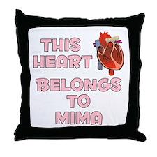 This Heart: Mima (C) Throw Pillow