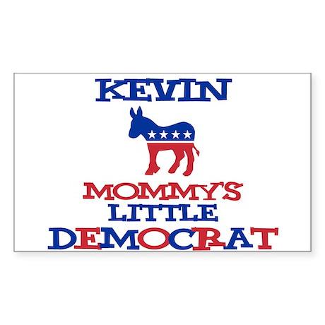 Kevin - Mommy's Little Democr Sticker (Rectangular