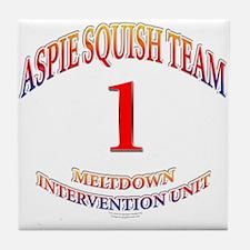 Aspie Squish Team Tile Coaster