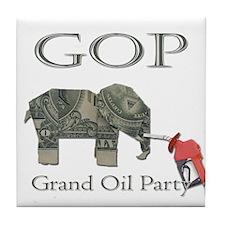 Grand Oil Party | GOP | Republican Party Tile Coas