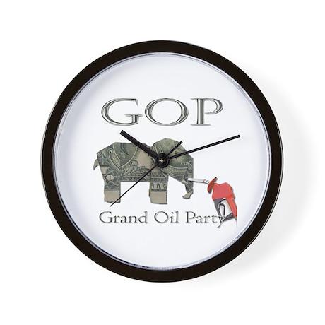 Grand Oil Party | GOP | Republican Party Wall Cloc