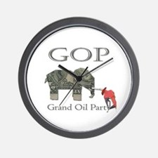 Grand Oil Party | GOP | Republican Party Wall Cloc