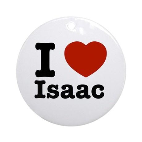 I love Isaac Ornament (Round)