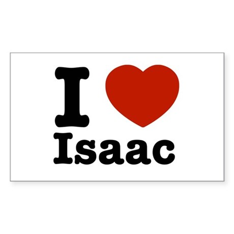 I love Isaac Rectangle Sticker
