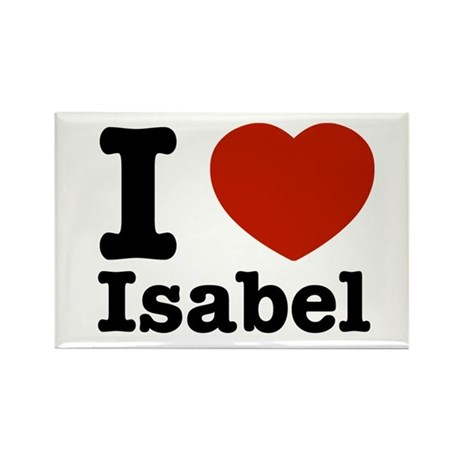 I love Isabel Rectangle Magnet (10 pack)