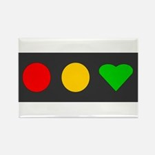 Red, Yellow, Heart 2 Rectangle Magnet