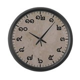 Thai numbers Wall Clocks