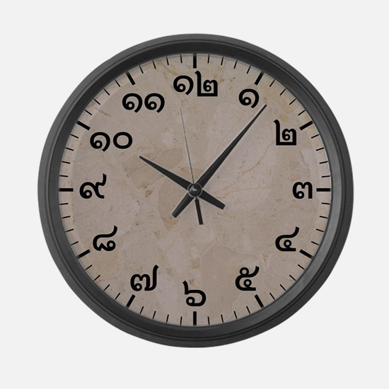 Thai Numbered Large Wall Clock