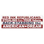 Anti Red Ink Republicans Bumper Sticker