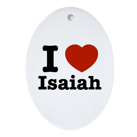 I love Isaiah Oval Ornament