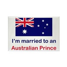 Married To Australian Prince Rectangle Magnet