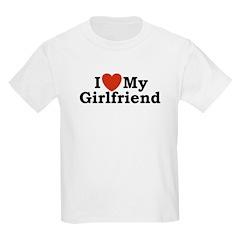 I Love My Girlfriend Kids T-Shirt