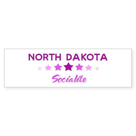 NORTH DAKOTA socialite Bumper Sticker