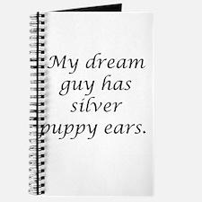 Dream Guy Silver Puppy Ears B Journal
