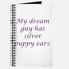 Dream Guy Silver Puppy Ears P Journal