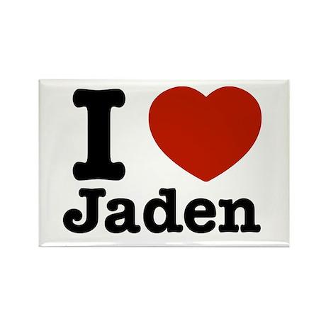 I love Jaden Rectangle Magnet