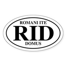 Roman Go Home Oval Decal