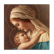 Madonna and Child Tile Coaster