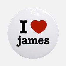 I love James Ornament (Round)