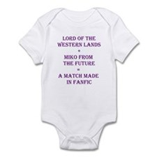 Lord+Miko Purple Infant Bodysuit