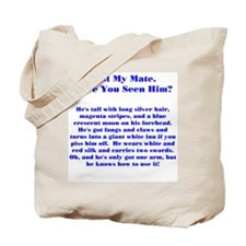 Lost Mate Blue Tote Bag