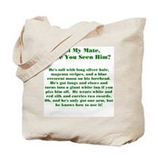 Lost Mate Green Tote Bag