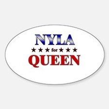 NYLA for queen Oval Decal