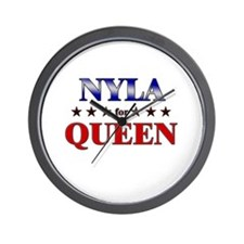 NYLA for queen Wall Clock
